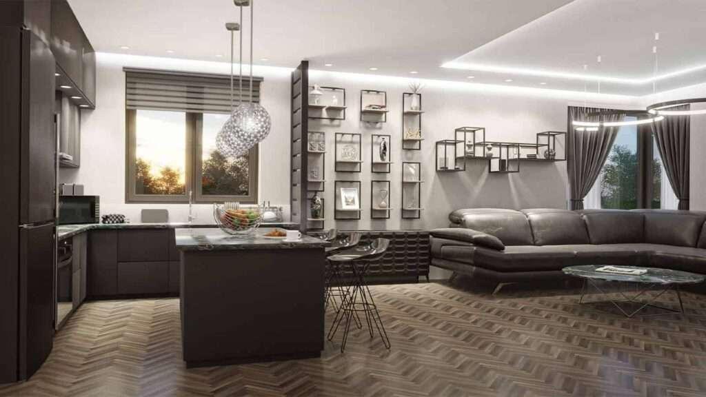 wizualizacja 3d pomieszczenia